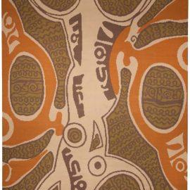 Modern Tattoo Relief Orange, Beige and Brown by Kim Alexandriuk N10730