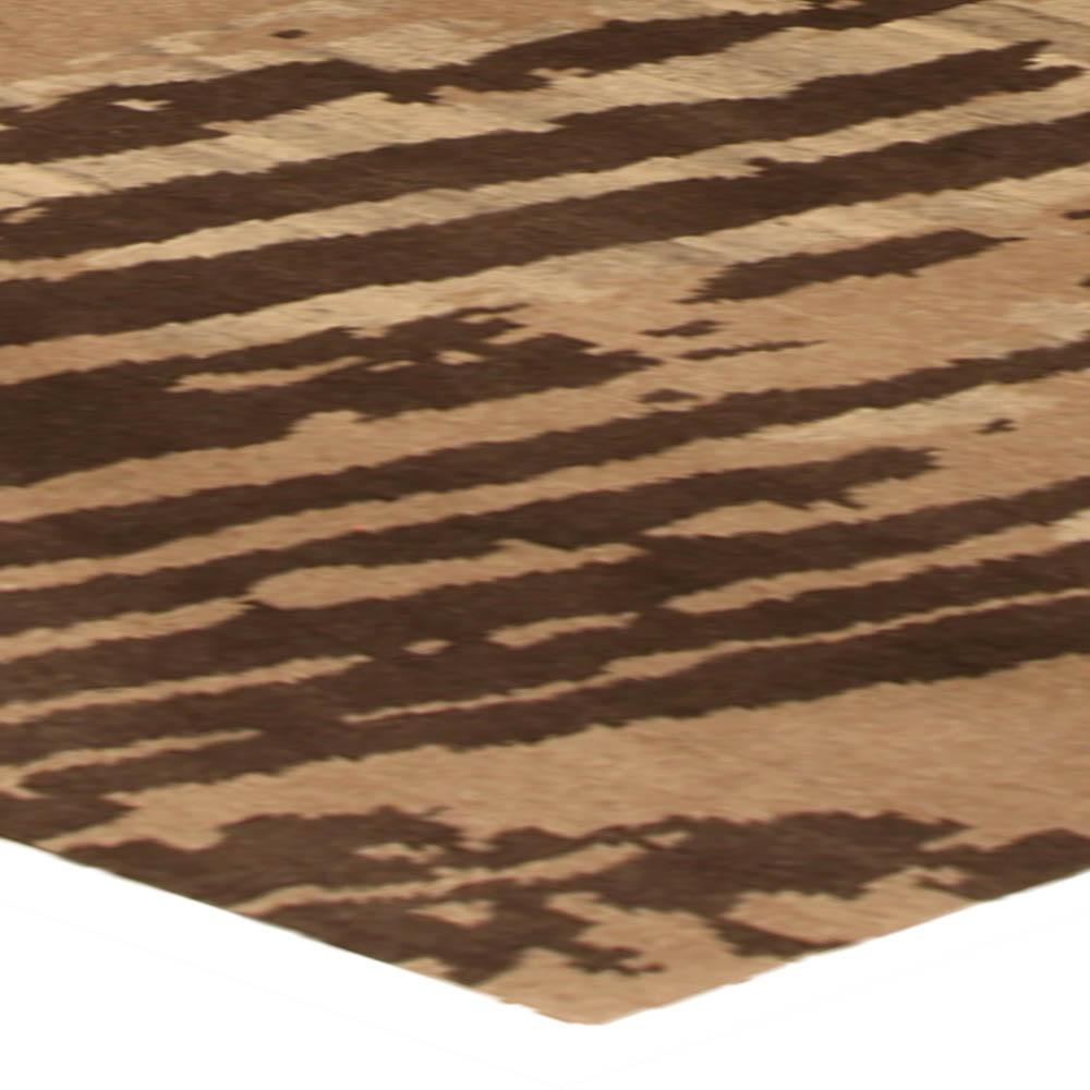 Modern Light & Dark Brown Whirl II Rug N10324