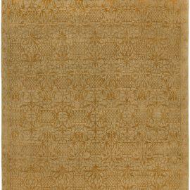 Vases Silk Rug in Gold and Beige N10402