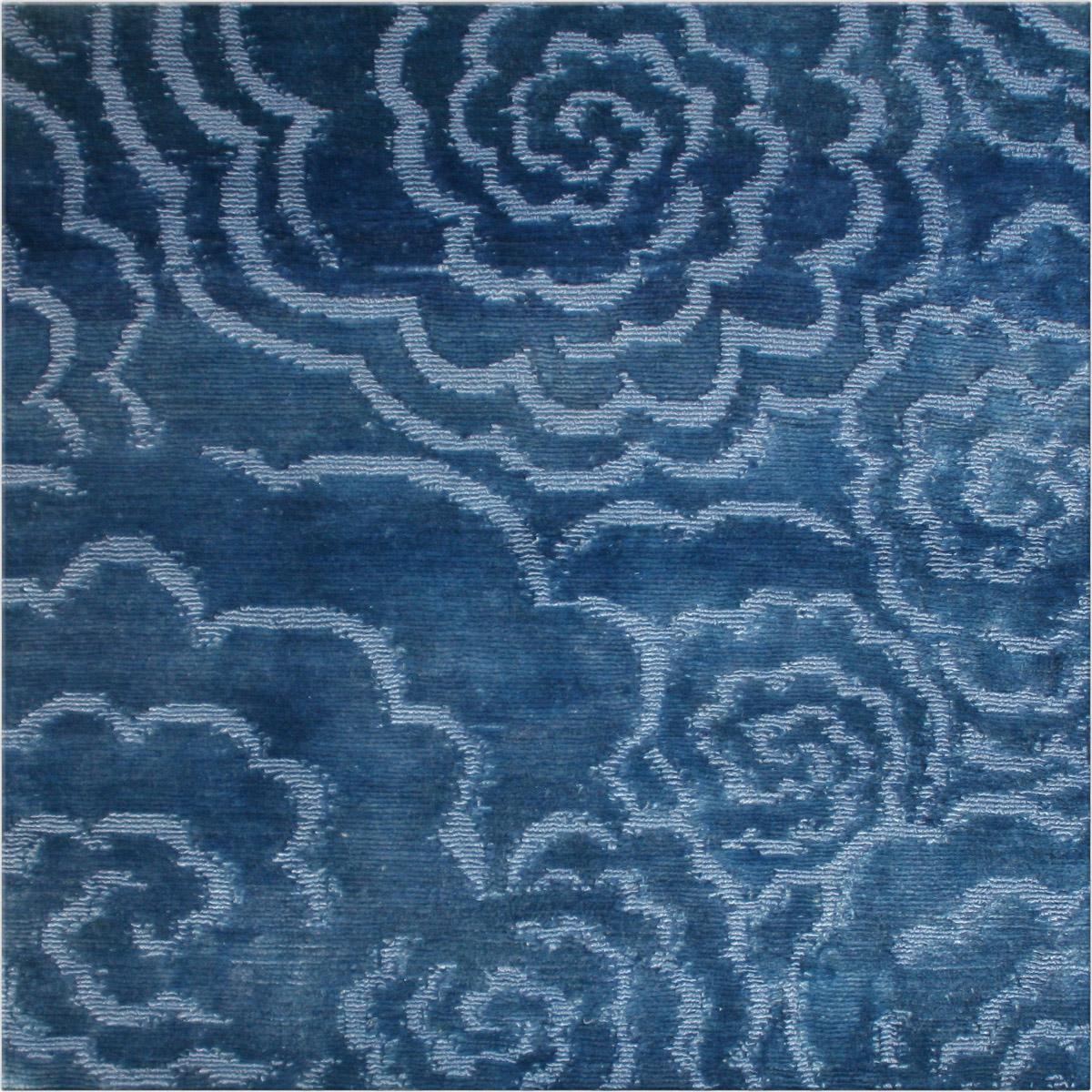 Blue Camelia Rug Sample N10197S