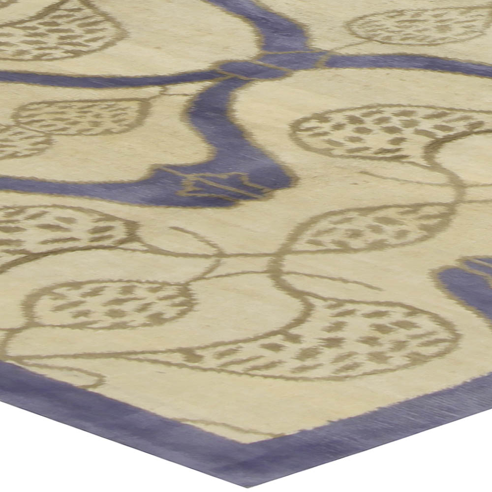 Contemporary Taj Blue Rug N10531