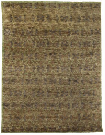 Modern Aegean Green Hand-knotted Wool Rug by Bunny Williams N11712