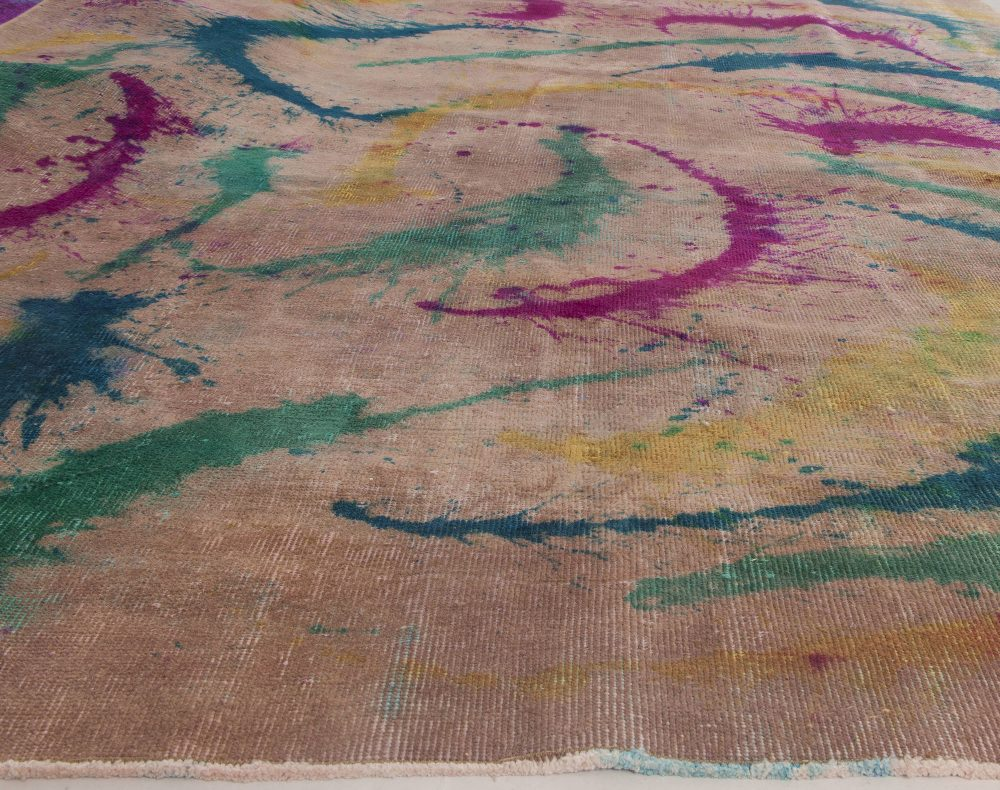 Contemporary Daliesque Collection Colorful Handwoven Wool Rug N11731