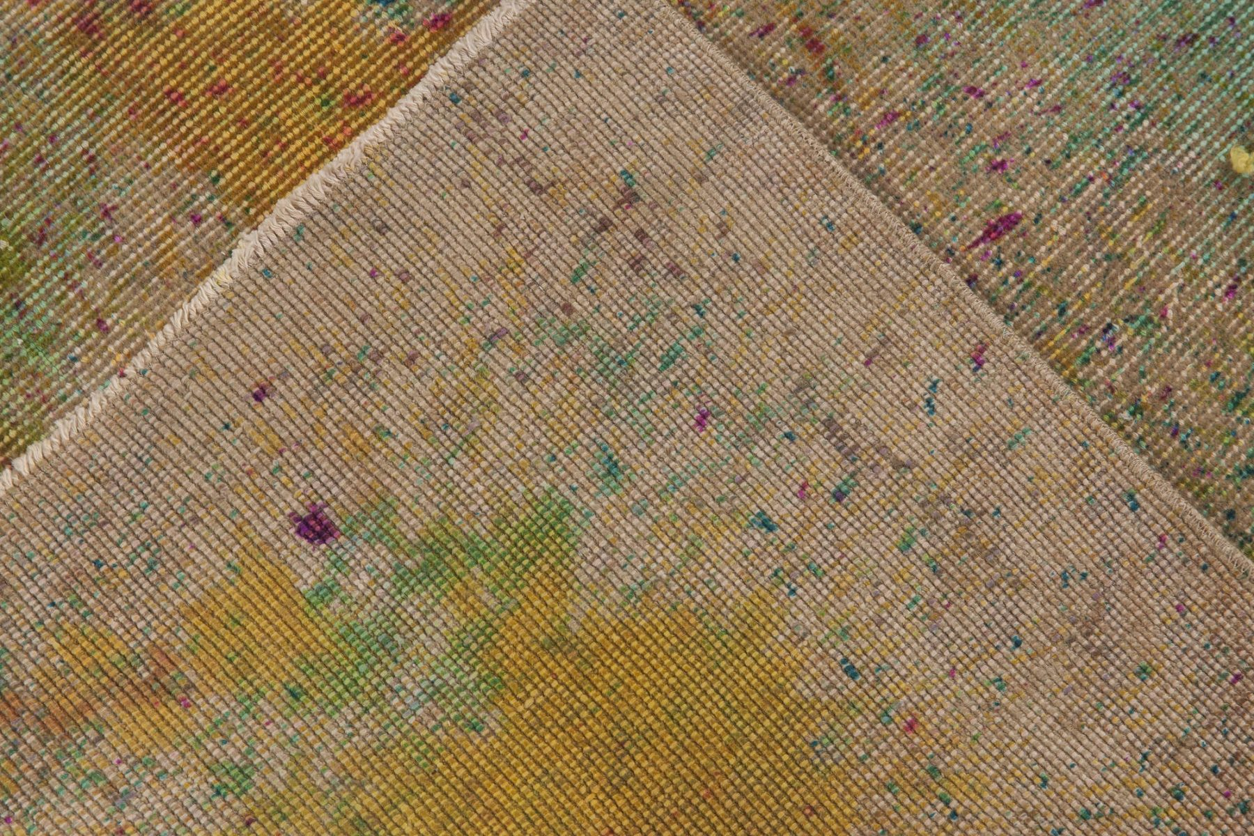 Contemporary Daliesque Collection Multicolored Wool Rug N11733