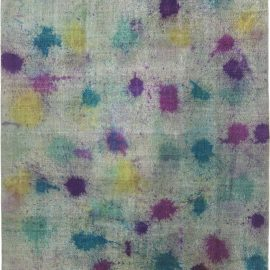 Modern Daliesque Collection Multi-Color Handwoven Wool Rug N11732