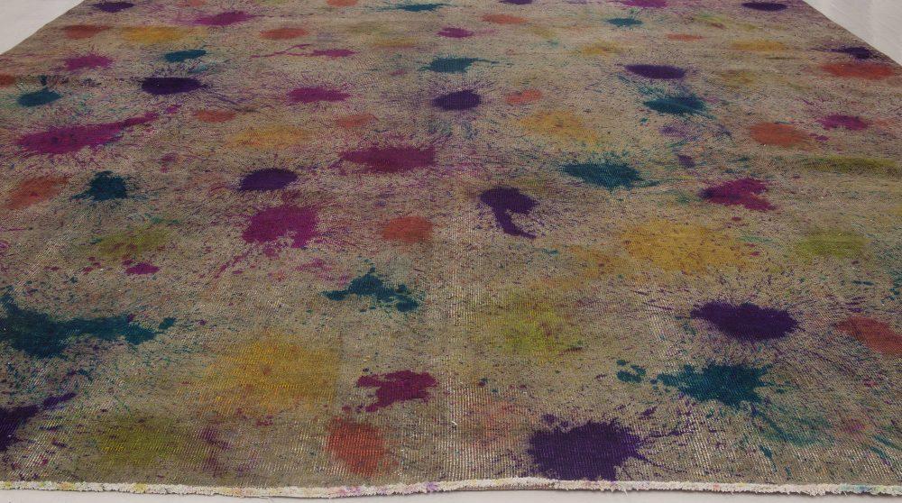 Contemporary Daliesque Collection Orange, Purple & Yellow Rug N11721