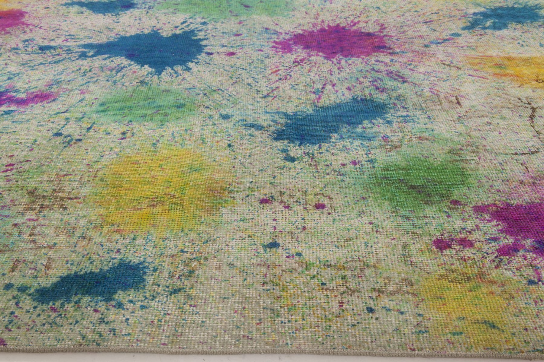 Modern Multi-Color Daliesque Collection Hand Knotted Wool Rug N11735