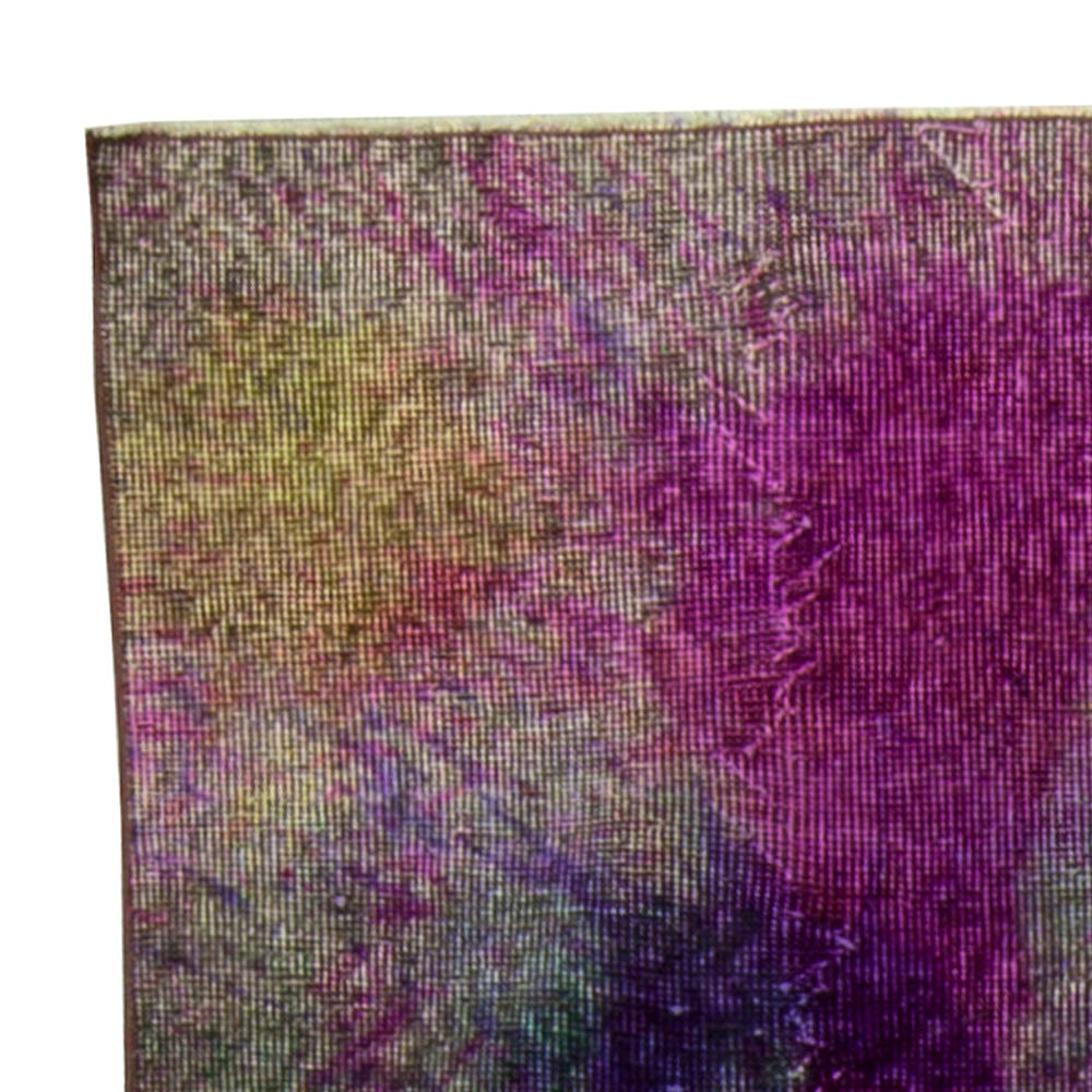 Explosion of Colors Contemporary Abstract Wool Rug N10471