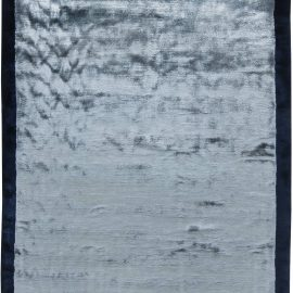 Contemporary Blue Hand Knotted Silk Rug N11534