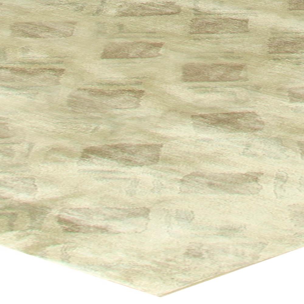 Modern Silk Rug: Contemporary Silk Rug N11250 By Doris Leslie Blau