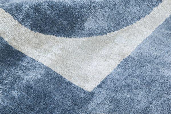 Geo Silk Blue Geometric Rug N11494
