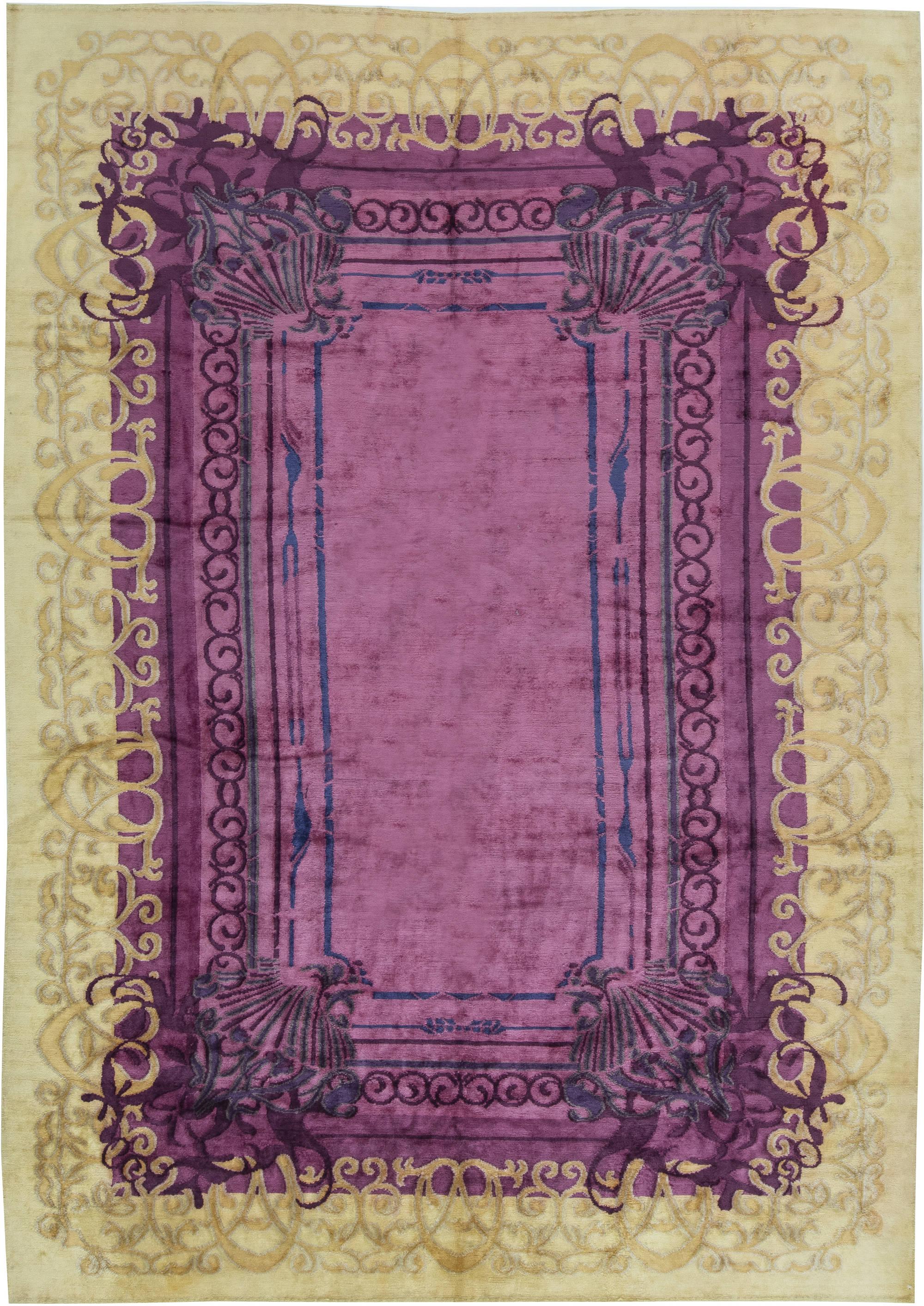 Contemporary Silk Rug N11508 By Dlb