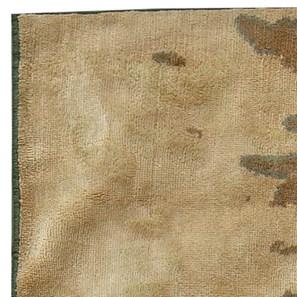 Contemporary Chestnut Brown Hand Knotted Silk Rug N11128