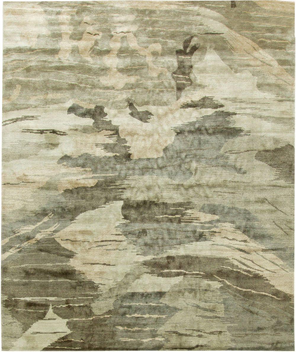 Contemporary Silk Rug N11254