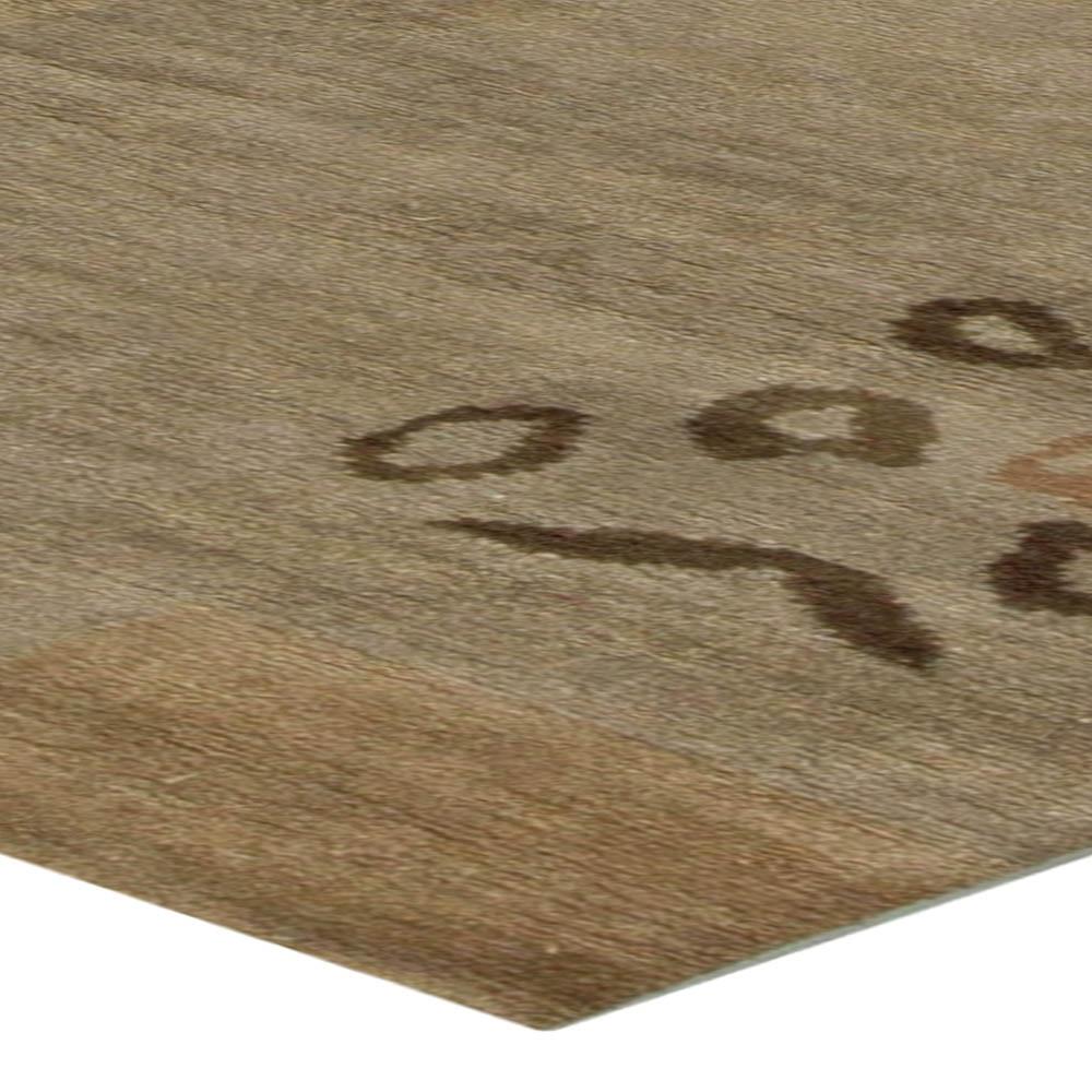 Tibetan Rug in Warm Palette of Browns and Beiges N11064