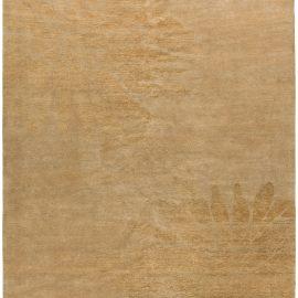 Modern Sunflower Beige Handwoven Wool Rug N10330