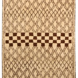 1790 Moroccan Rug in Beige and Brown N03712