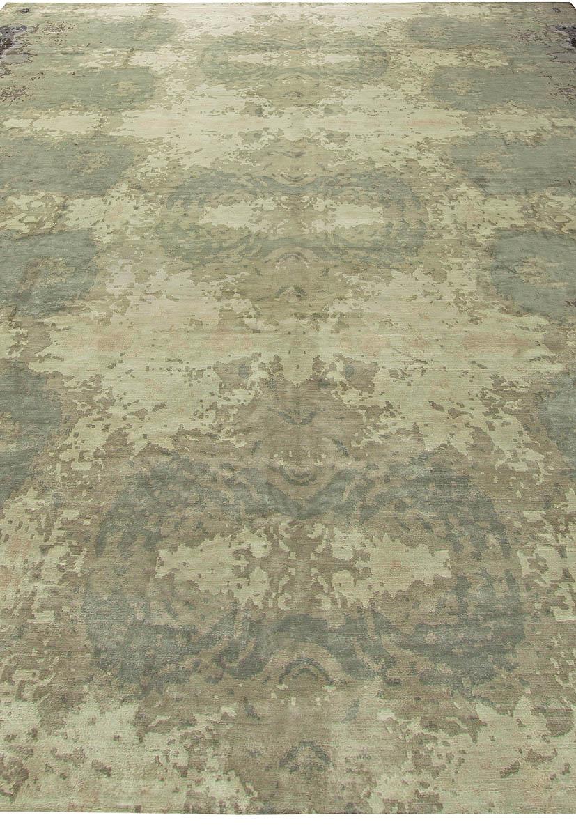 Large Kusafiri Eskayel Natural Silk Rug N11306
