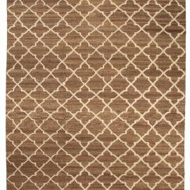 Tulu Nadu Alahambra Scaled Brown Hand Knotted Wool Rug N10335
