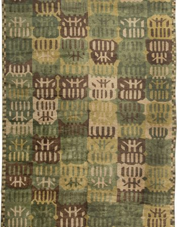 Forel Brown and Beige Handmade Rug N10472