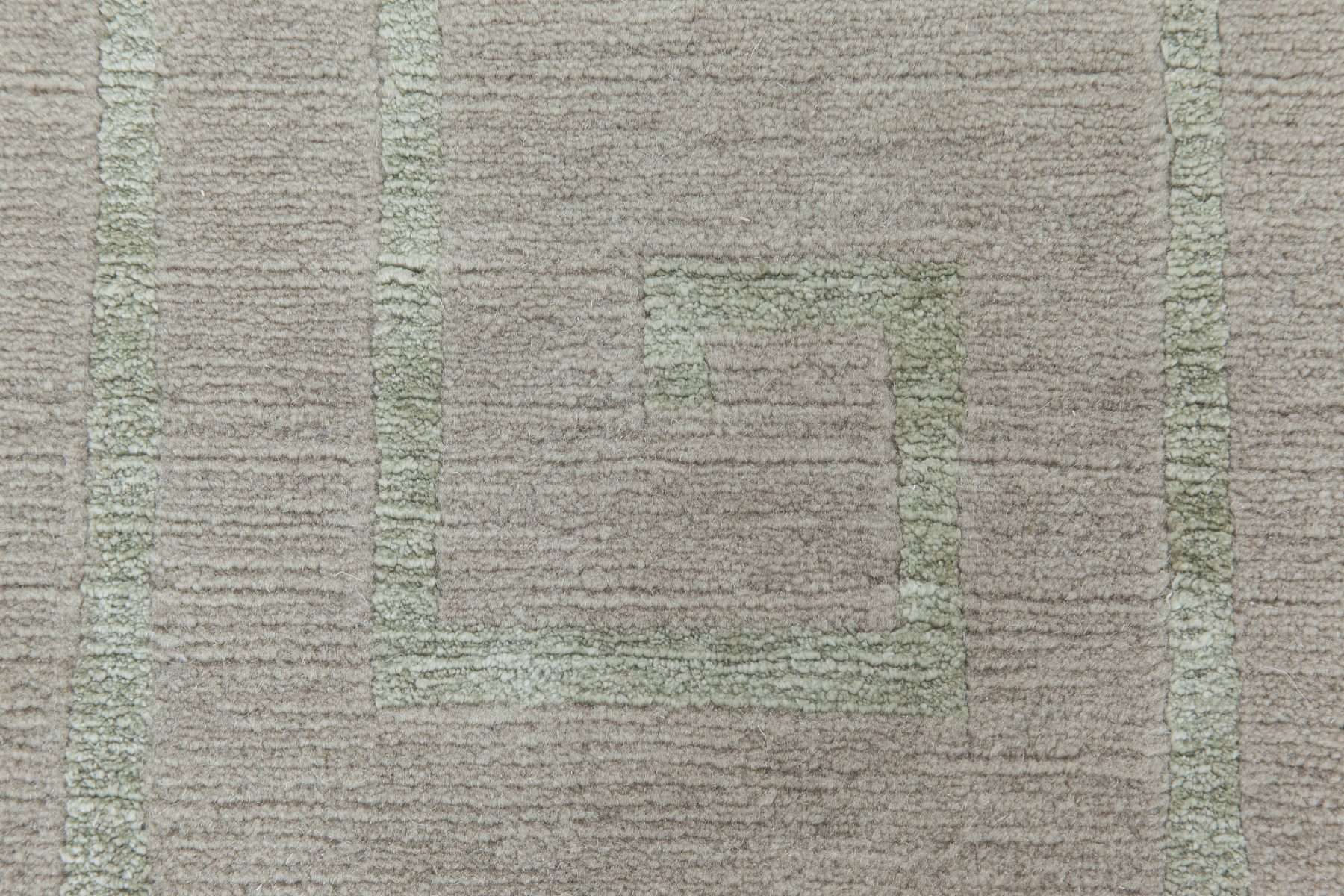 Contemporary Greek Key Design Gray and Pale Teal Wool Rug N11512