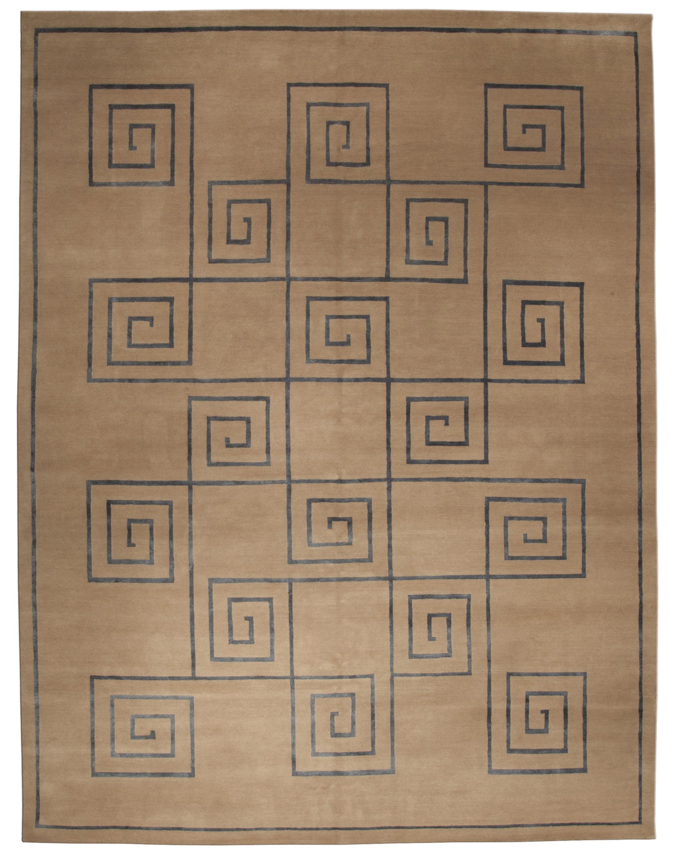 Tibetan Rug Greek Key N10084