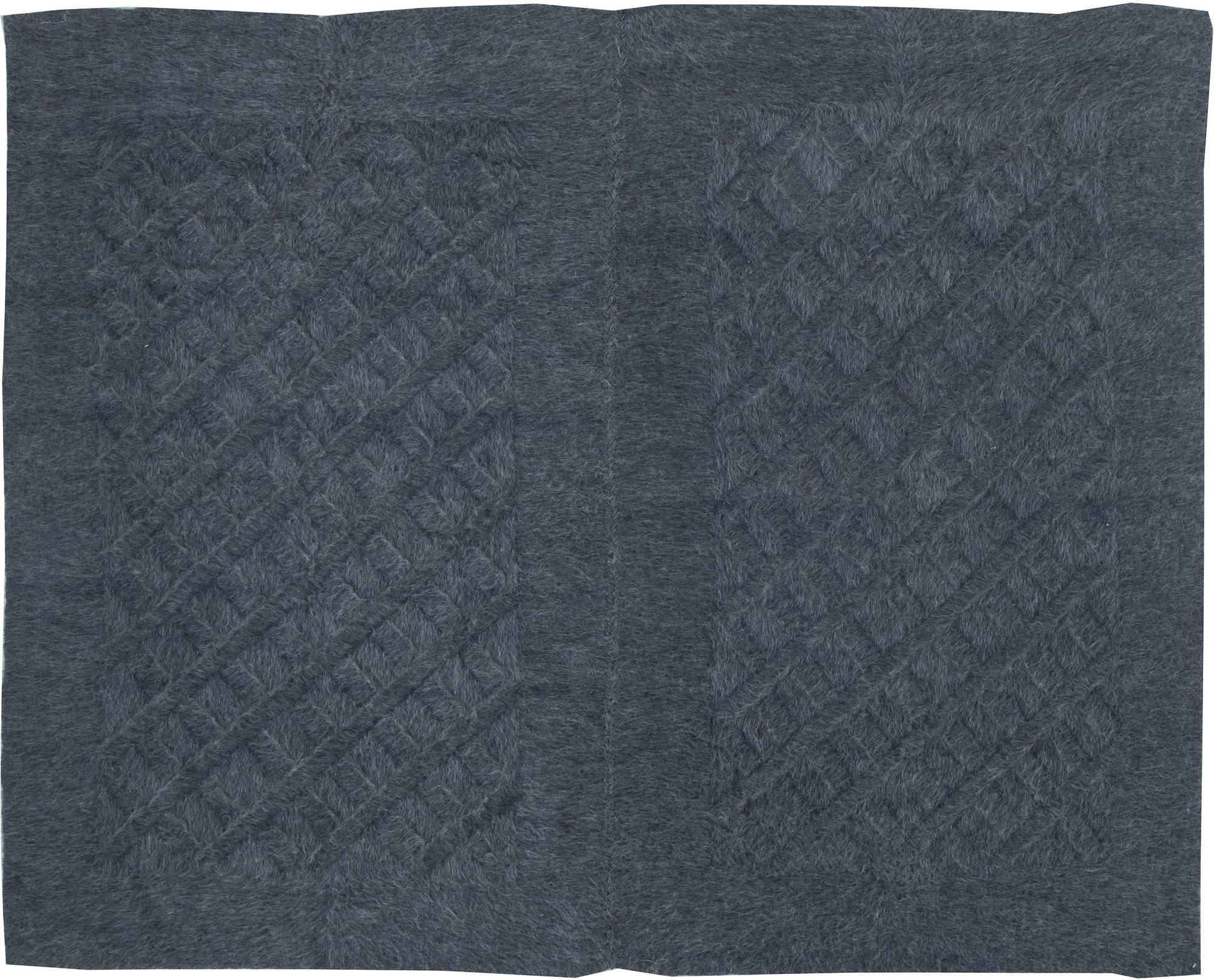 Contemporary Anthracite Geometric Rug N11518
