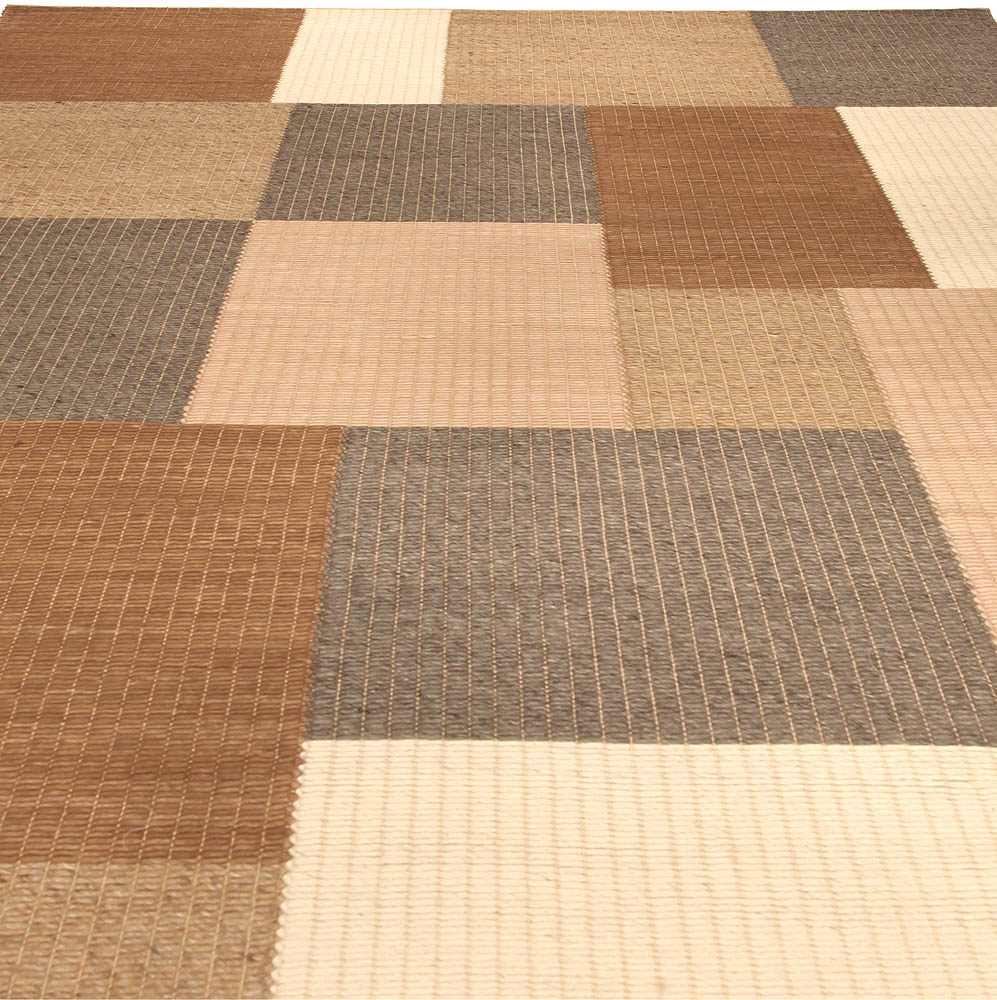Contemporary Tulu Nadu – the Carmel Streppe – Hand Knotted Wool Rug N10350