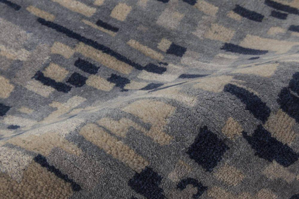Pool Tile Runner in Blue and Grey N11725