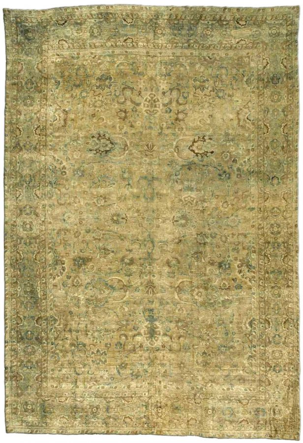 antique oriental green persian rug