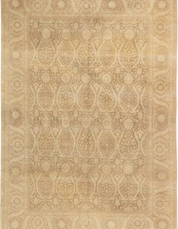 American Hooked with Overlapping Ring Hand Knotted Wool Rug BB7416