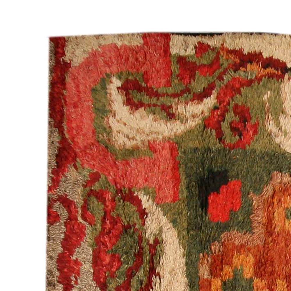 Antique French Rag Rug Fragment BB4061