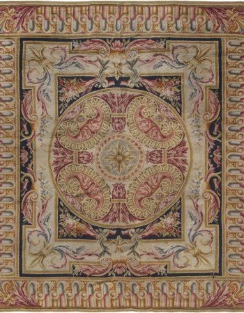 Antique Savonnerie Brown Carpet BB1414