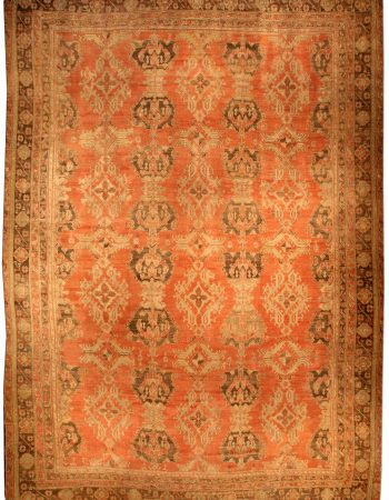 Oversized Vintage Turkish Oushak Rug BB3246