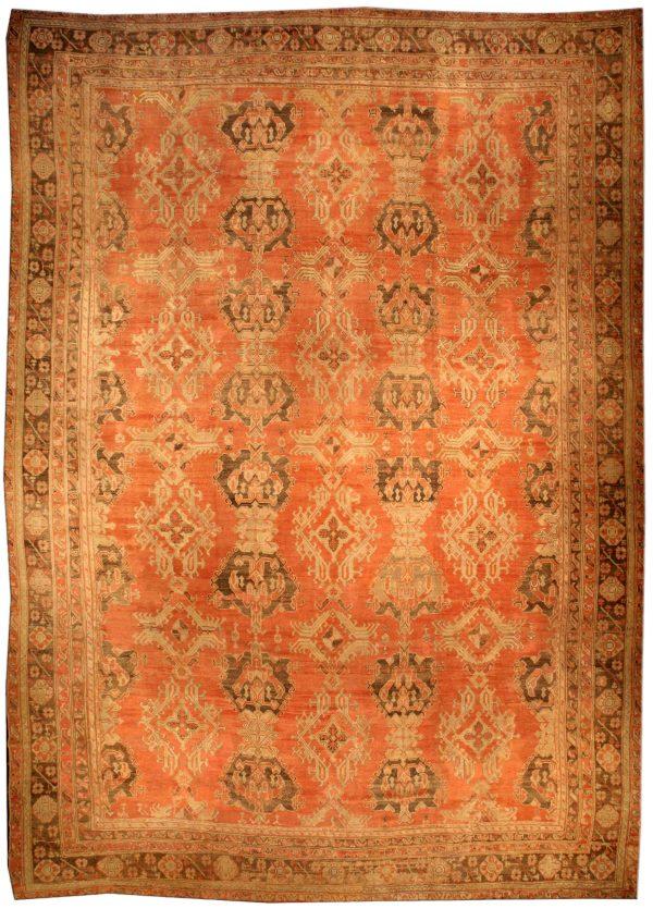 Oversized Vintage Turkish Oushak Rug BB3246