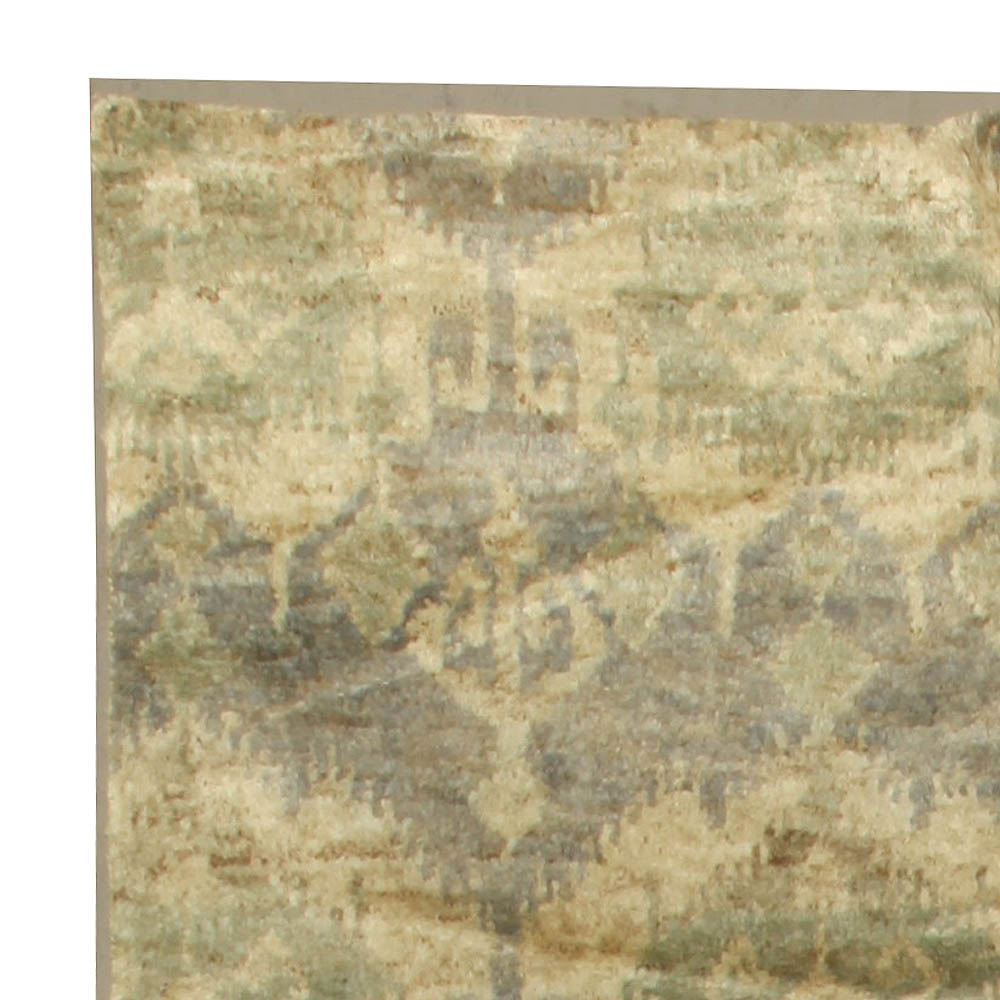 Contemporary Mallow Mint Abstract Rug N10635