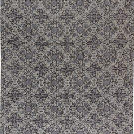 Contemporary European Inspired Tibetan Gray and Black Rug N11371