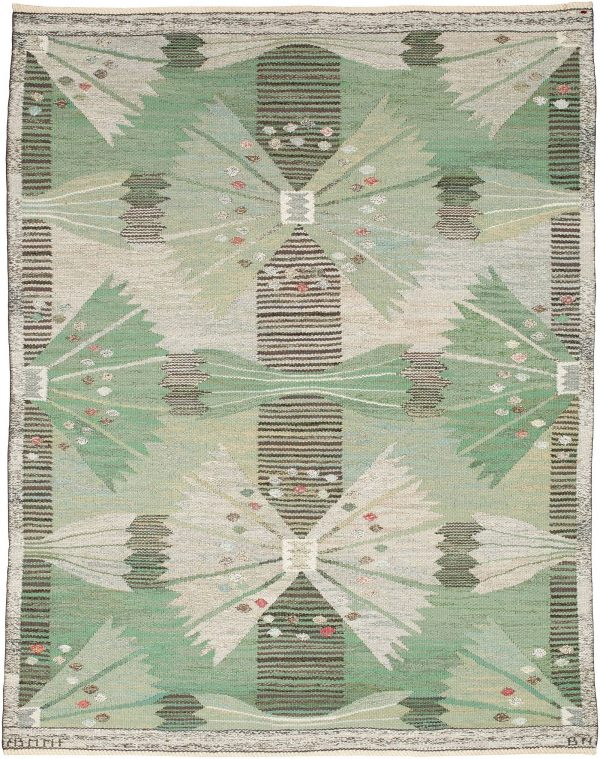 Vintage Swedish Flatweave Rug (The Park) by Barbro Nilsson BB5204