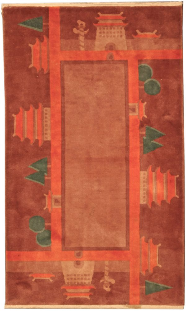 Vintage Chinese Deco Rug BB4804