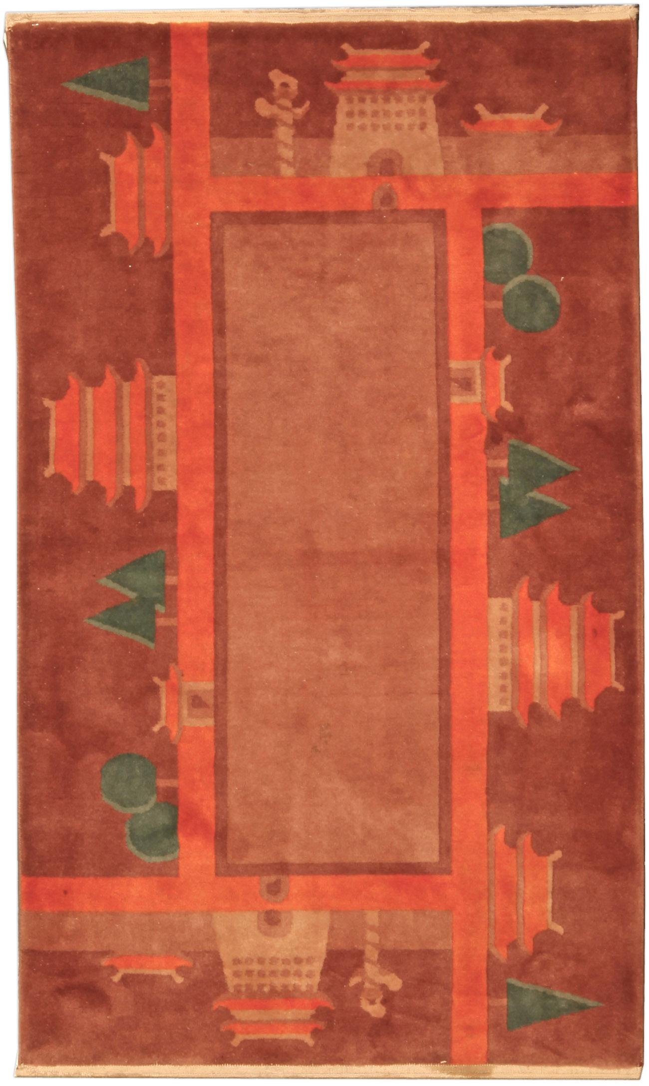 Vintage Chinese Deco Rug BB4804