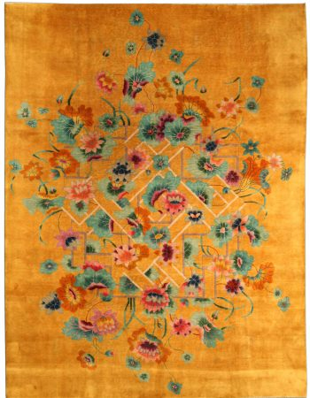 Vintage Chinese Deco Carpet BB4170