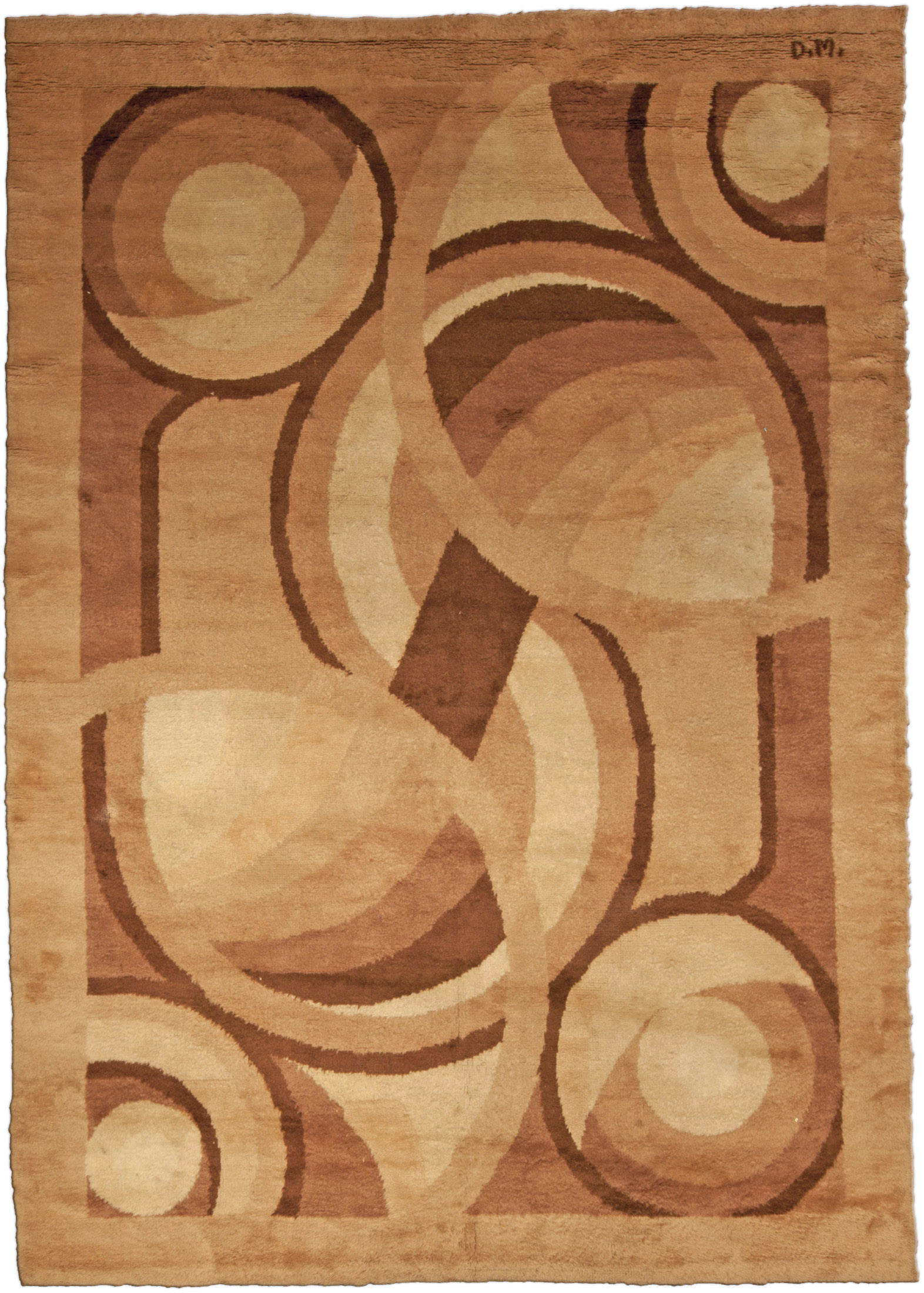 Vintage French Deco Rug by D.I.M. BB4794