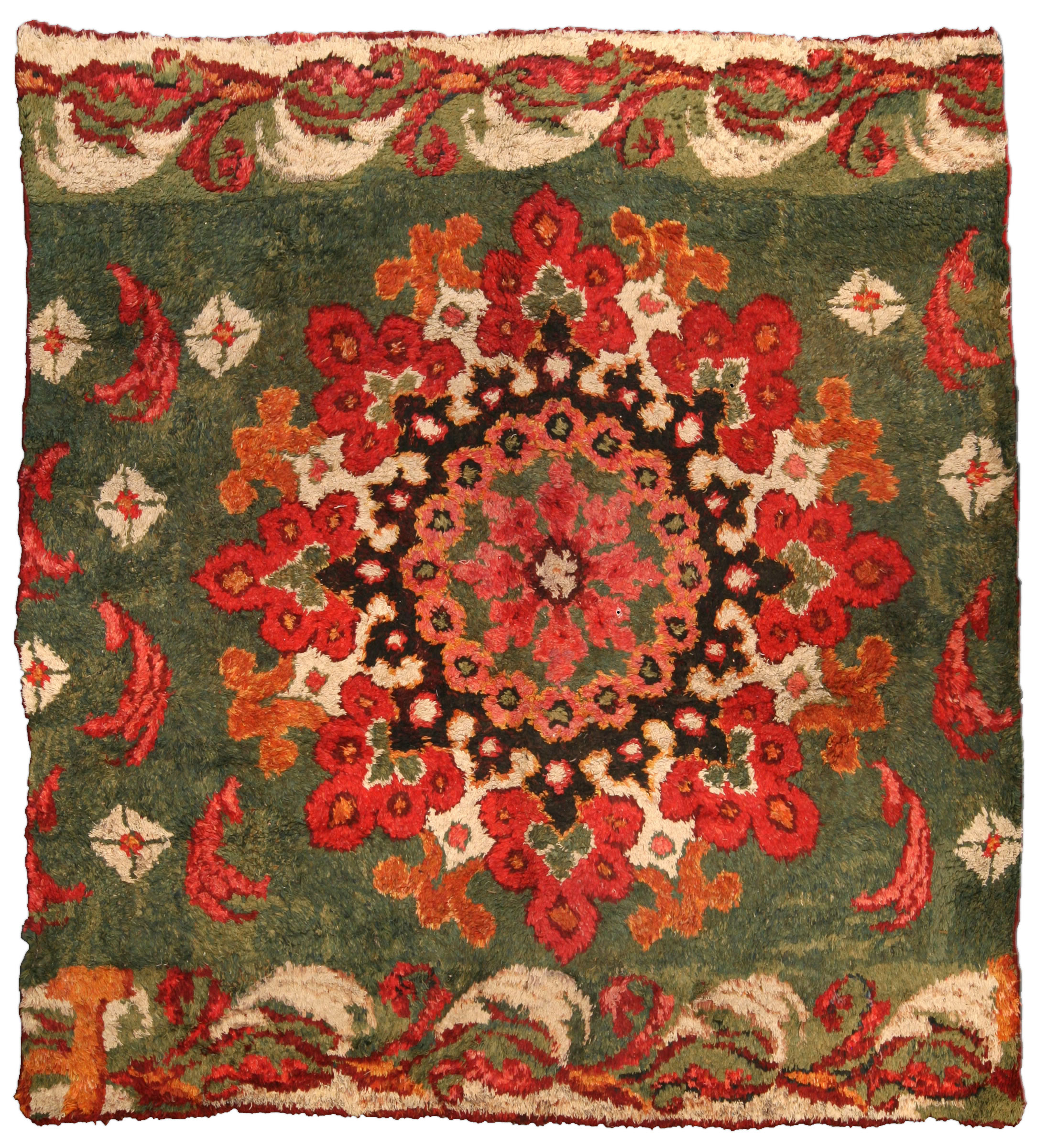 Antique French fragment Rug BB4065