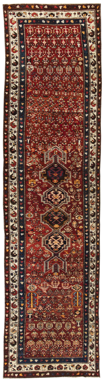 Antique Hamadan runner BB3839