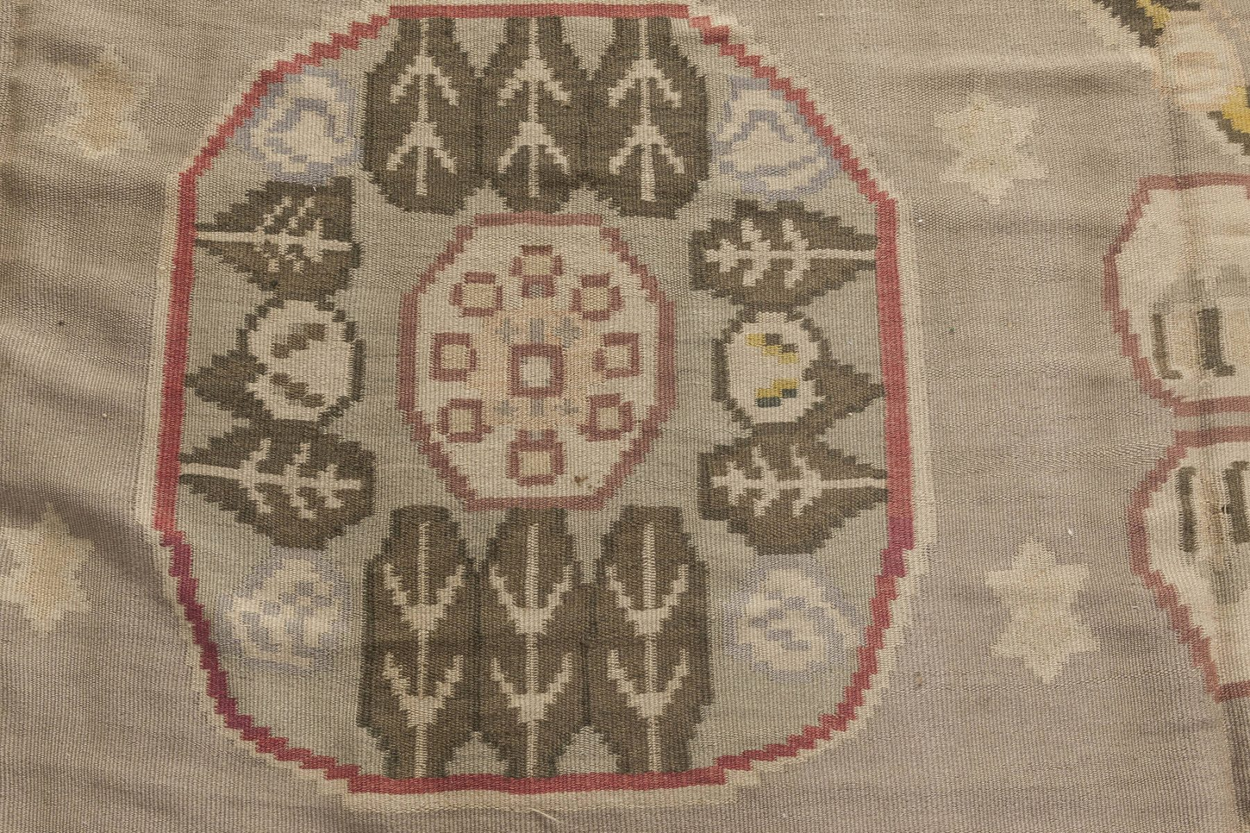 Vintage Bessarabian Hand Knotted Wool Rug BB2485