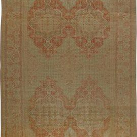 Oversized 19th Century Turkish Hereke Camel and Pale Brick Red Rug BB5981