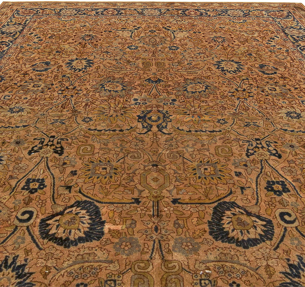 Sivas Gold, Ivory, Beige and Sapphire Handwoven Wool Rug BB6054