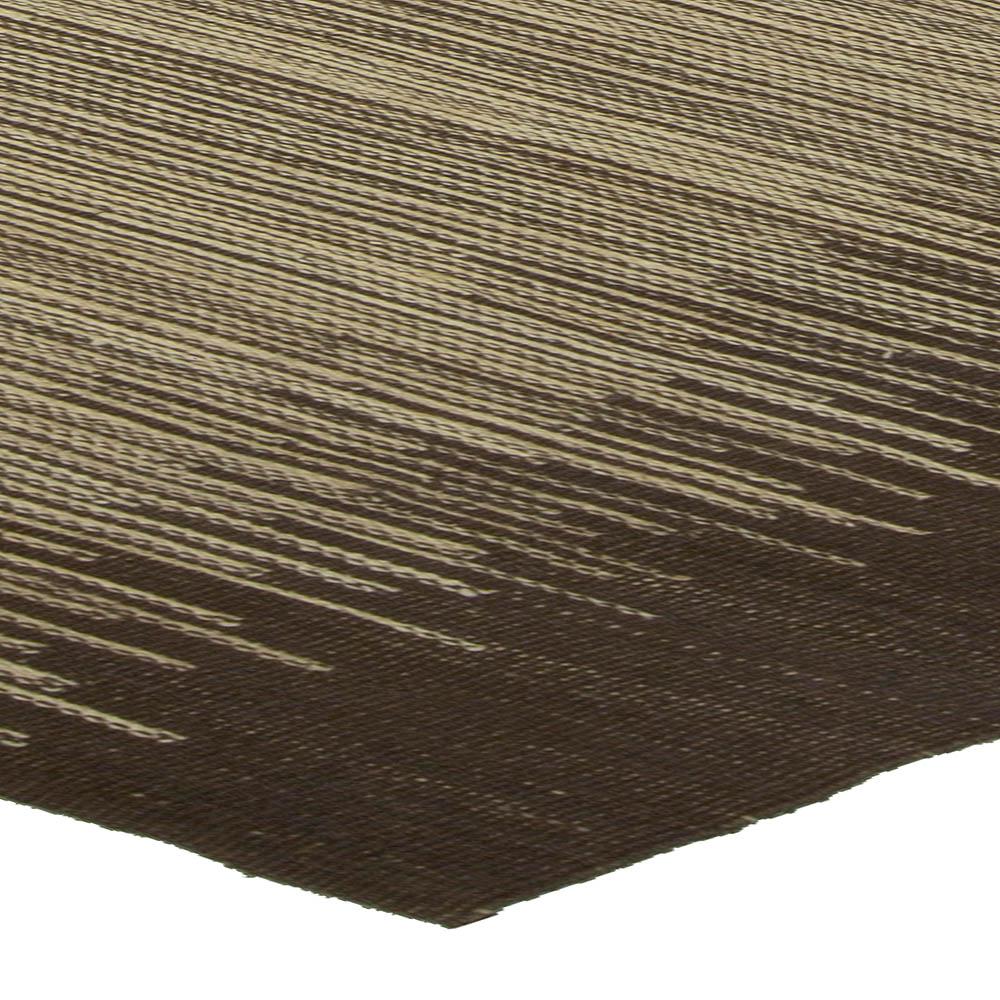 Forel Brown and Beige Handmade Rug N10472