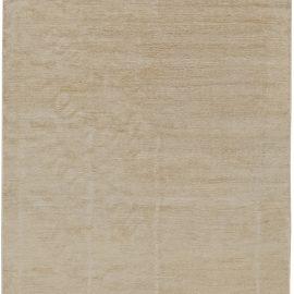 Art Deco Style Line Design Carpet in Soft Beige N11063