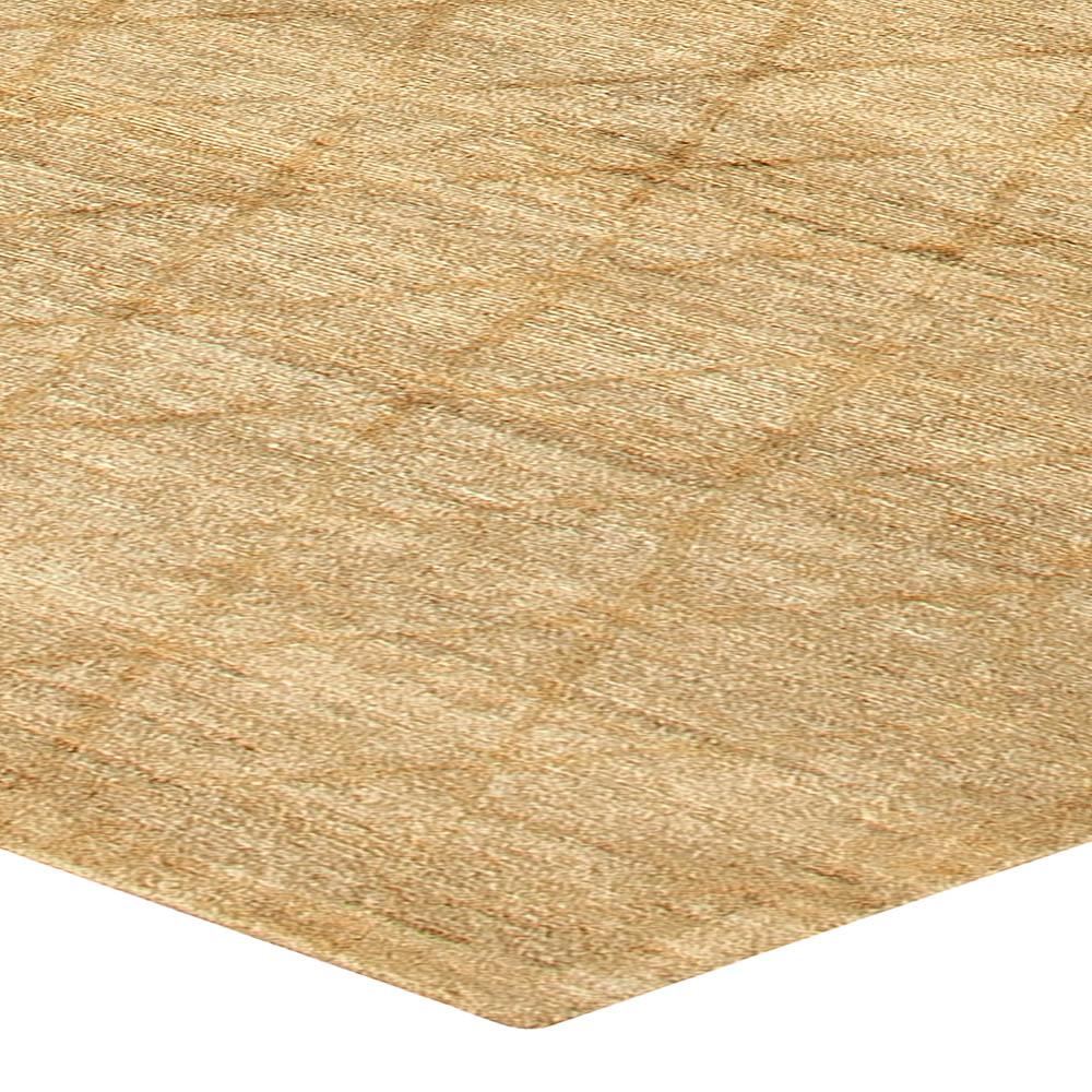 Modern Soho Gold Hand Knotted Wool Rug N10723